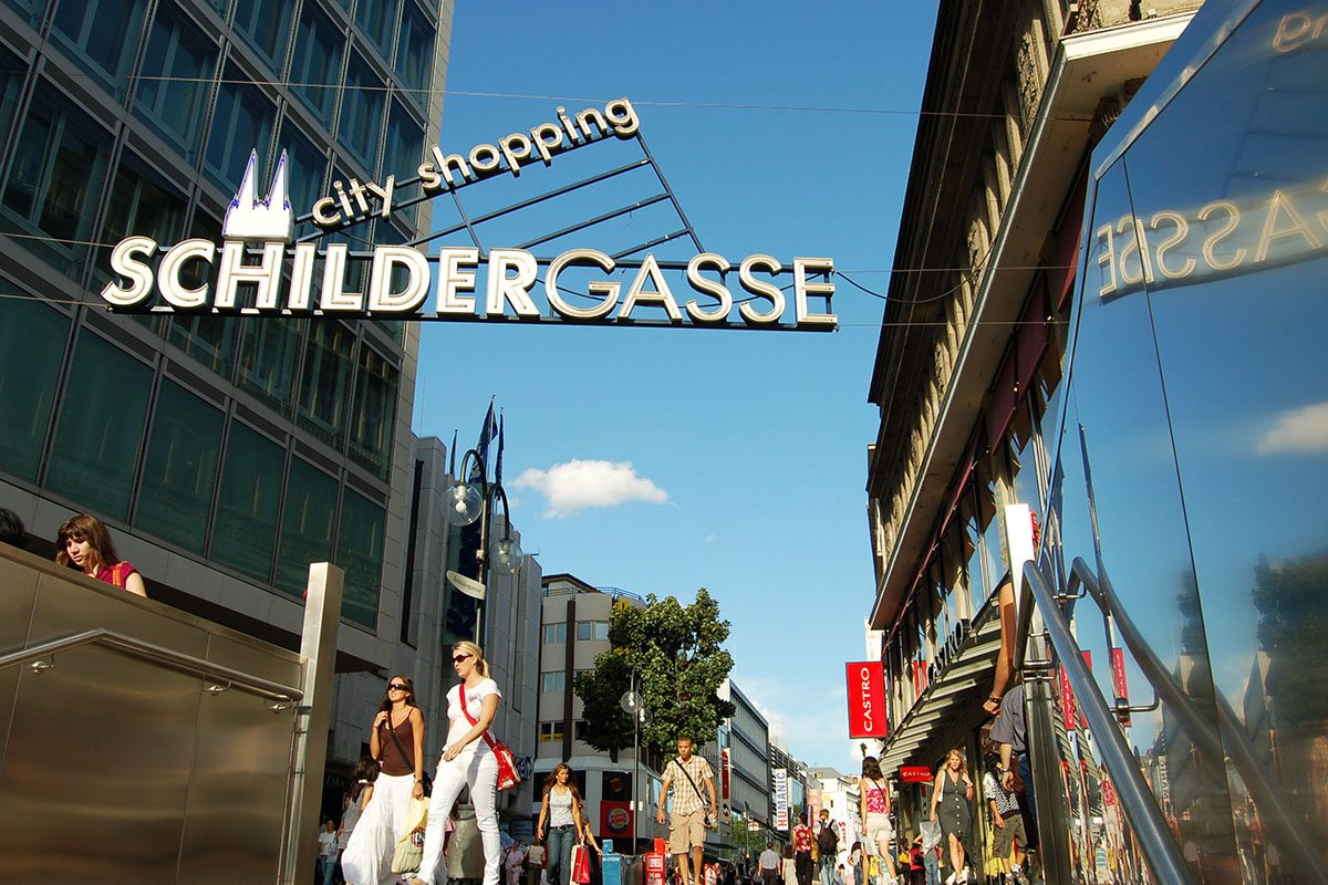 """City Shopping"" in der Schildergasse"